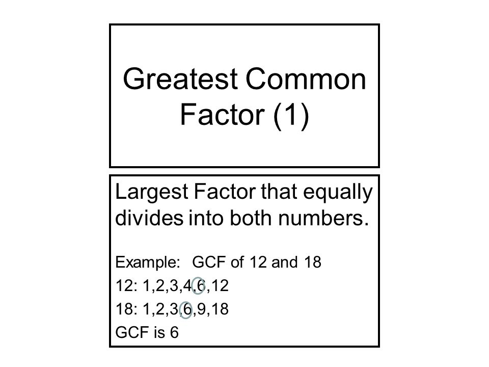 greatest common factor worksheet pdf