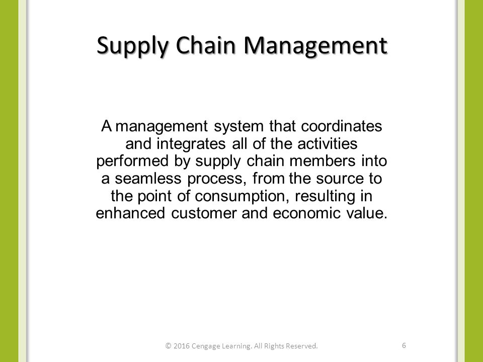 supply chain notes Dr joern meissner department of management science mba elective: supply chain management 4 reading and lecture notes i will roughly follow this text.
