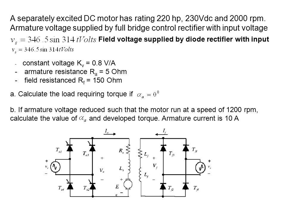Eet 421 power electronic drives ppt download for Dc motor horsepower calculator