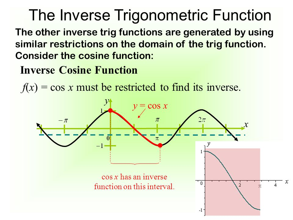 7-6 The Inverse Trigonometric Functions - ppt video online ...