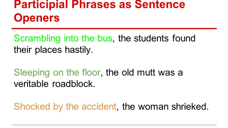 Appositives participial phrases absolute phrases ppt for Sentence of floor