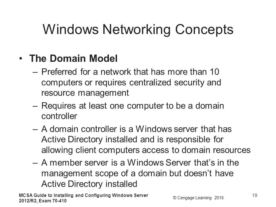 Windows Networking Concepts