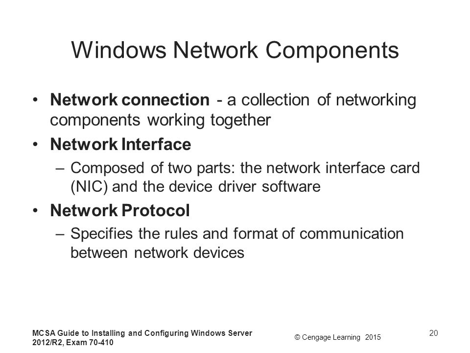 Windows Network Components
