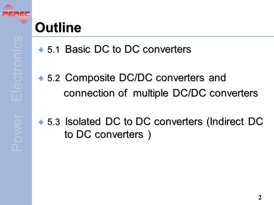 Outline connection of multiple DC/DC converters