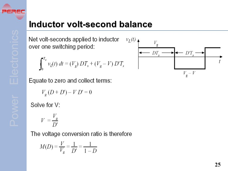 Inductor volt-second balance