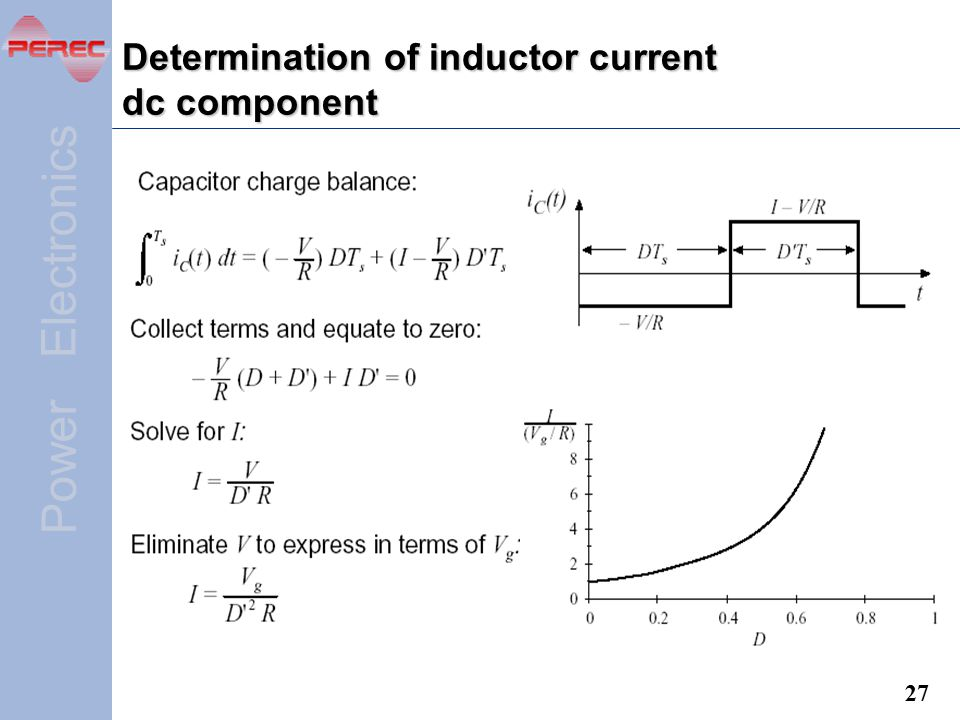 Determination of inductor current dc component