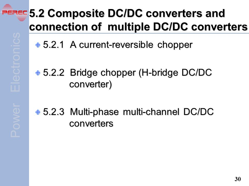 5.2 Composite DC/DC converters and connection of multiple DC/DC converters