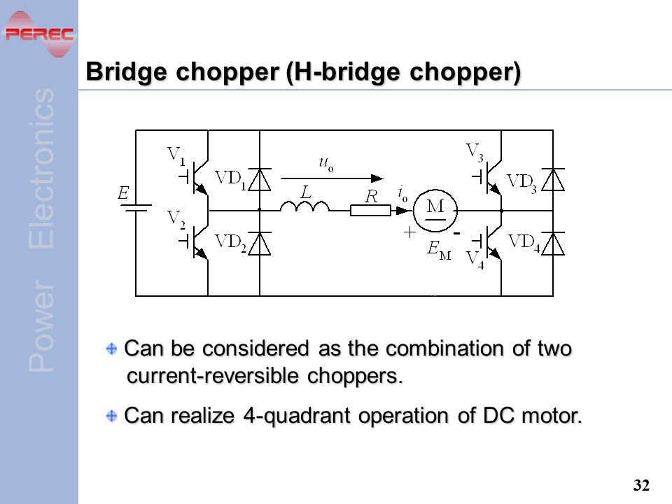 Bridge chopper (H-bridge chopper)
