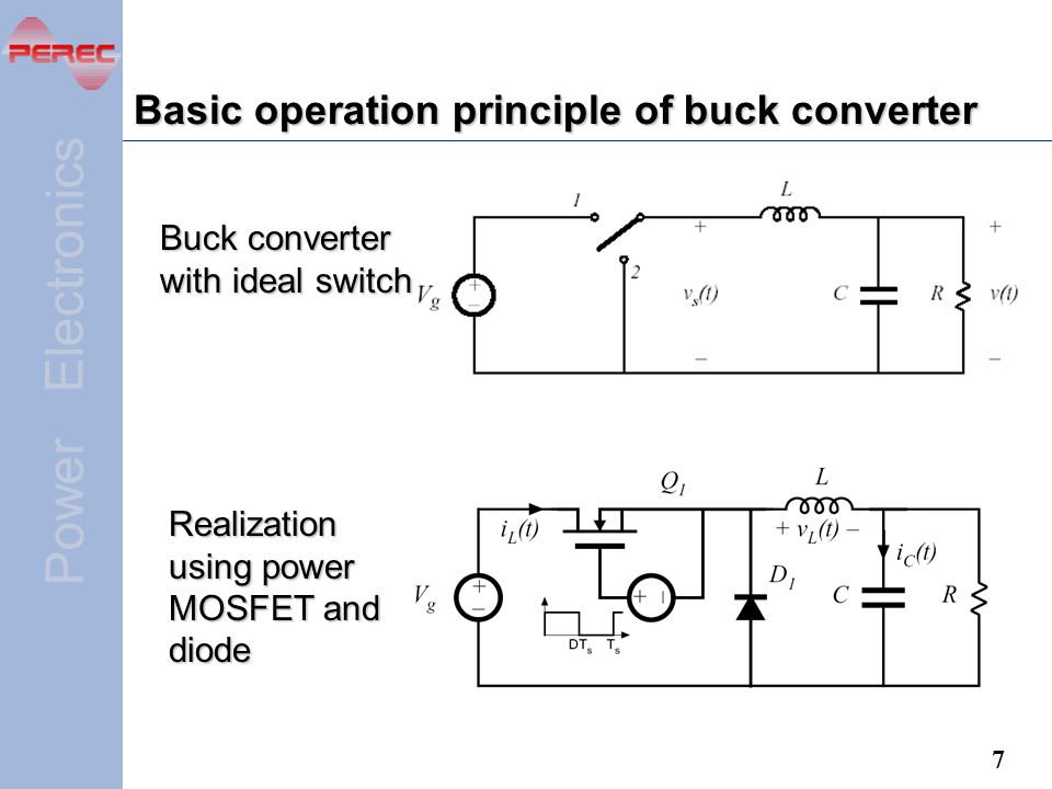 Basic operation principle of buck converter