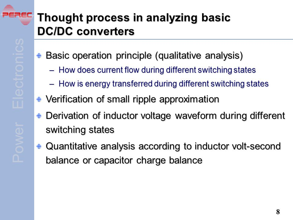 Thought process in analyzing basic DC/DC converters