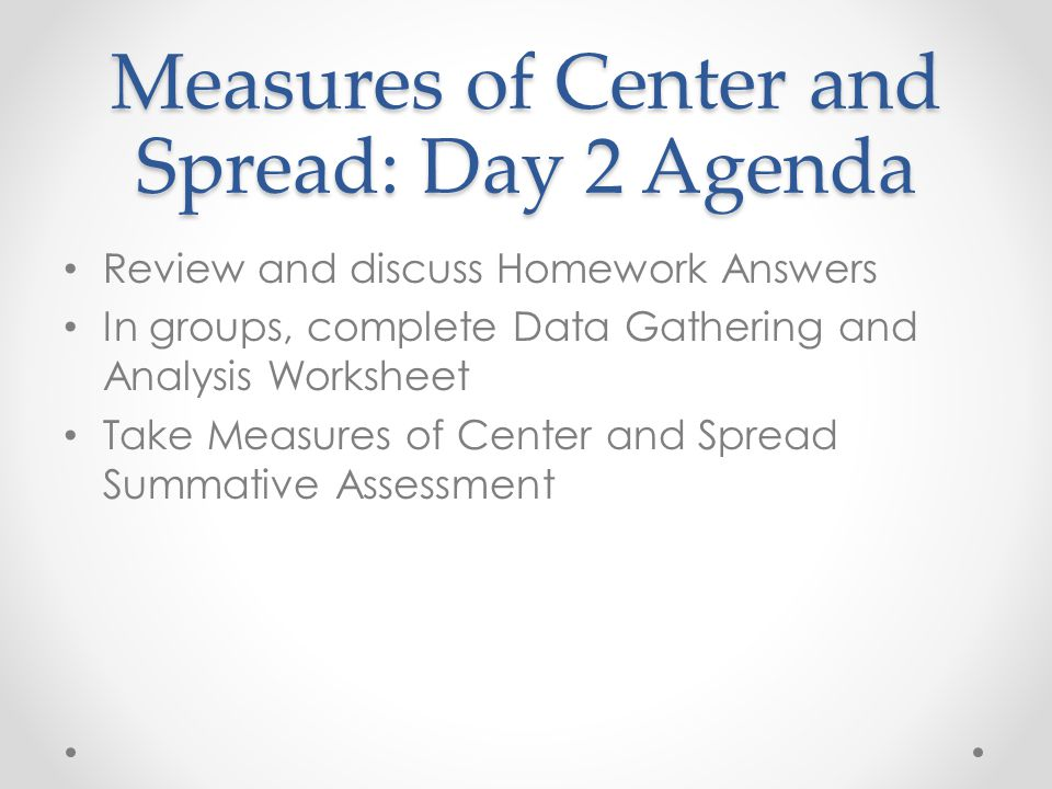 Measures of Center and Spread - ppt video online download