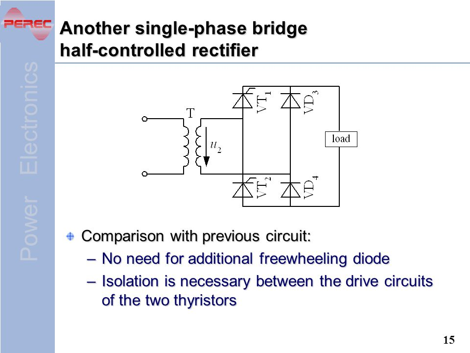 Another single-phase bridge half-controlled rectifier