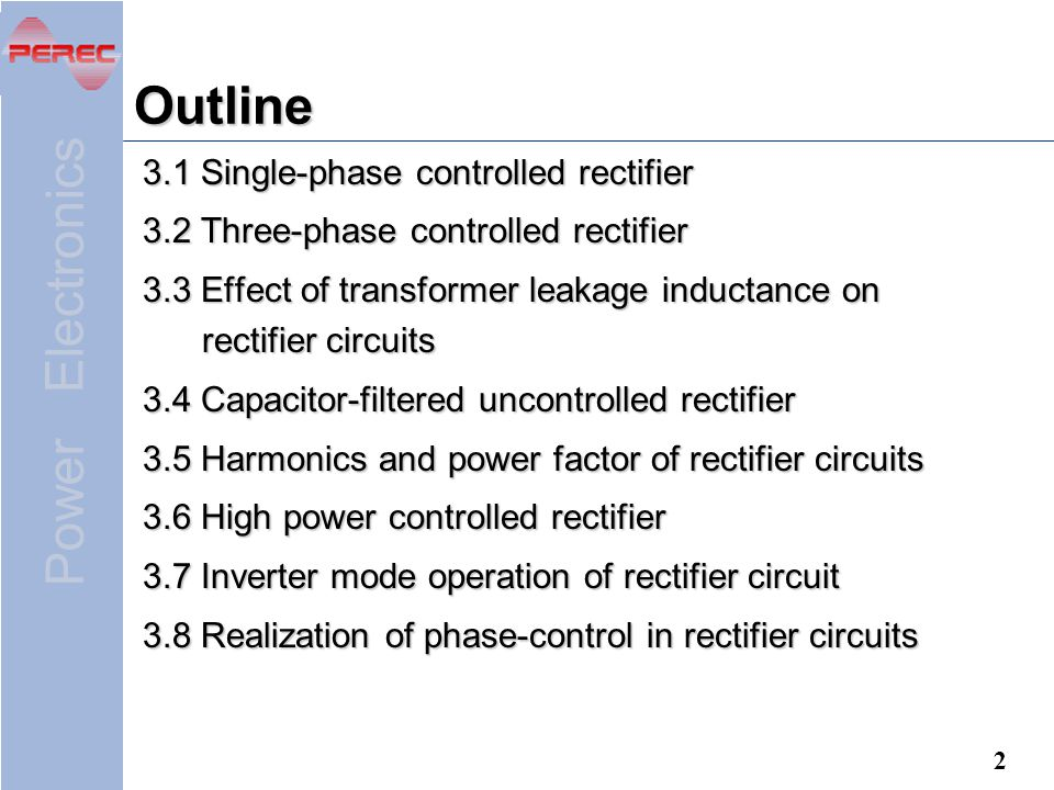 Outline 3.1 Single-phase controlled rectifier