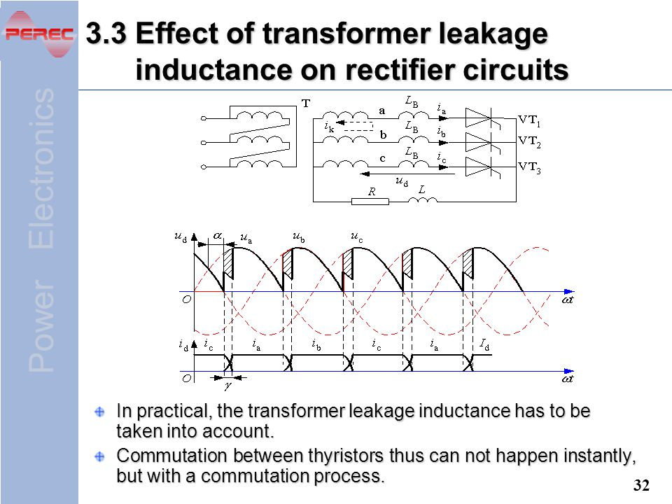 3.3 Effect of transformer leakage inductance on rectifier circuits