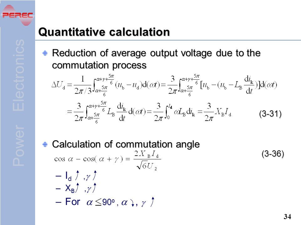 Quantitative calculation