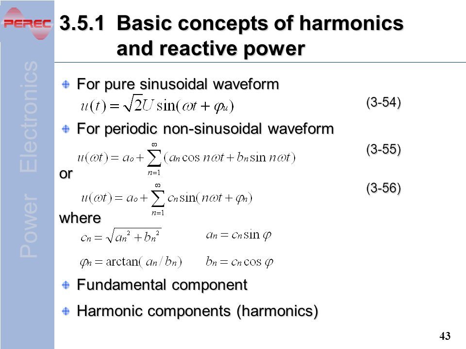 3.5.1 Basic concepts of harmonics and reactive power
