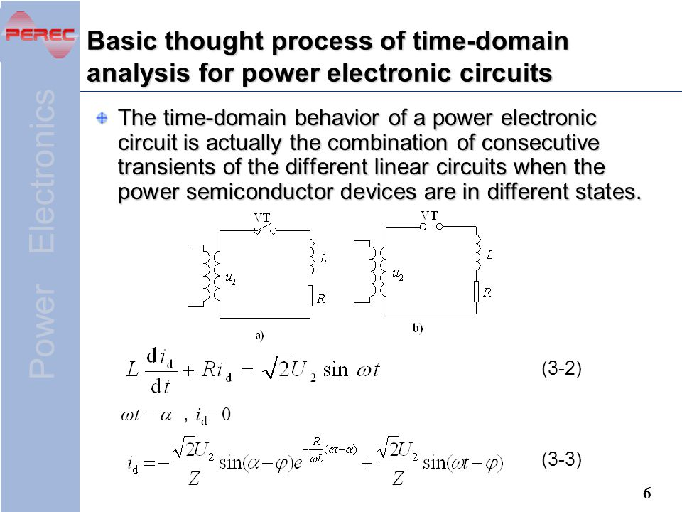 Basic thought process of time-domain analysis for power electronic circuits