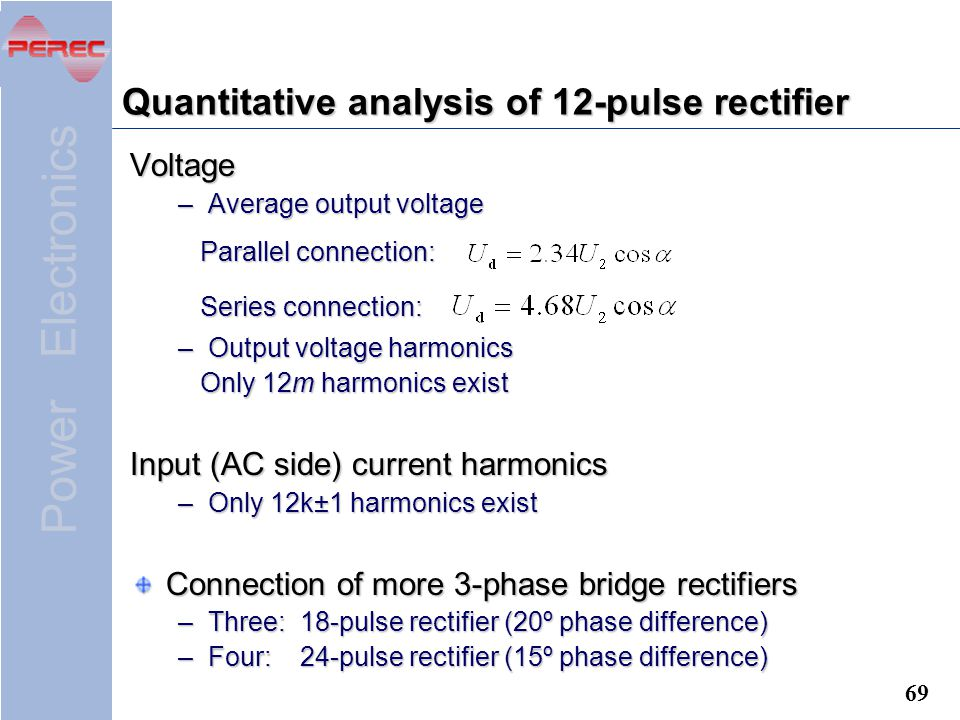 Quantitative analysis of 12-pulse rectifier