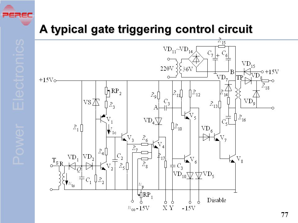 A typical gate triggering control circuit