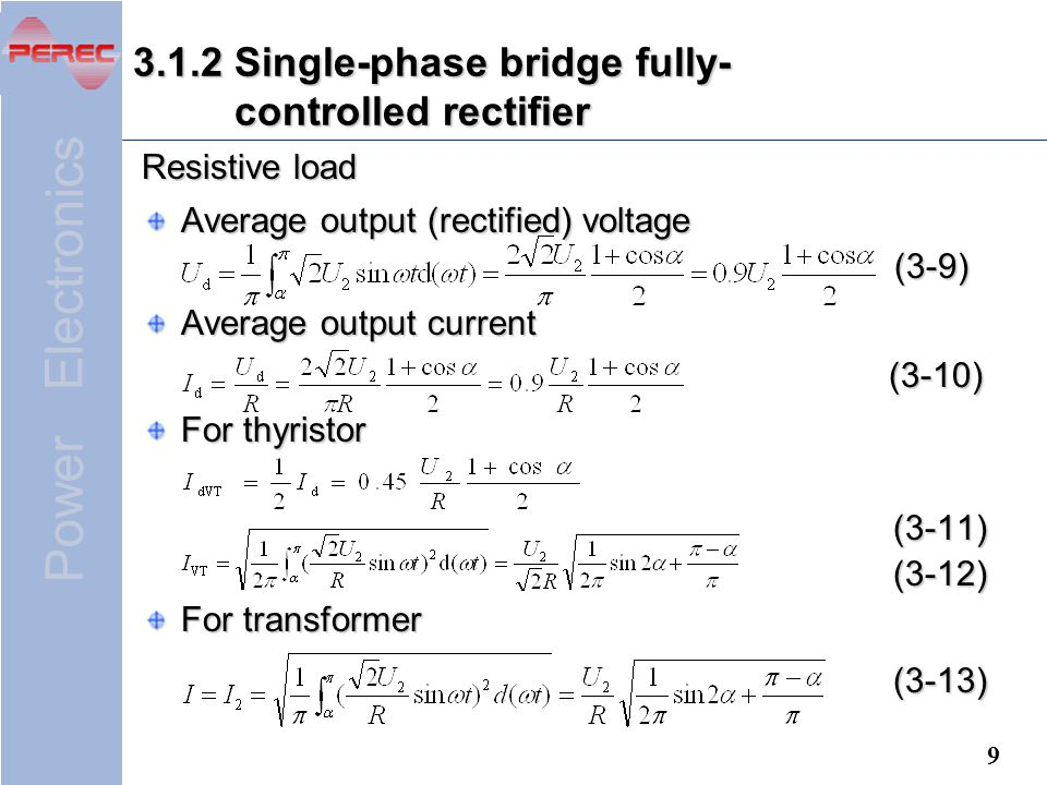 3.1.2 Single-phase bridge fully- controlled rectifier