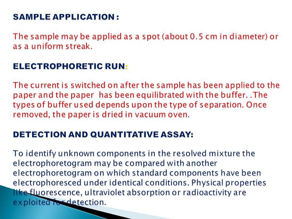 SAMPLE APPLICATION : The sample may be applied as a spot (about 0