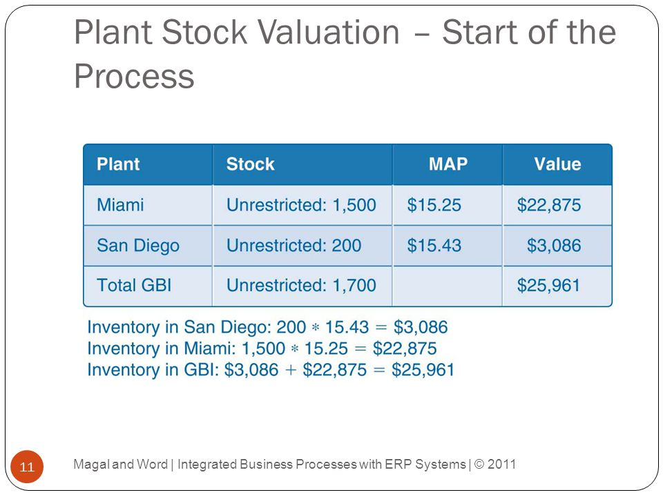 Plant Stock Valuation – Start of the Process