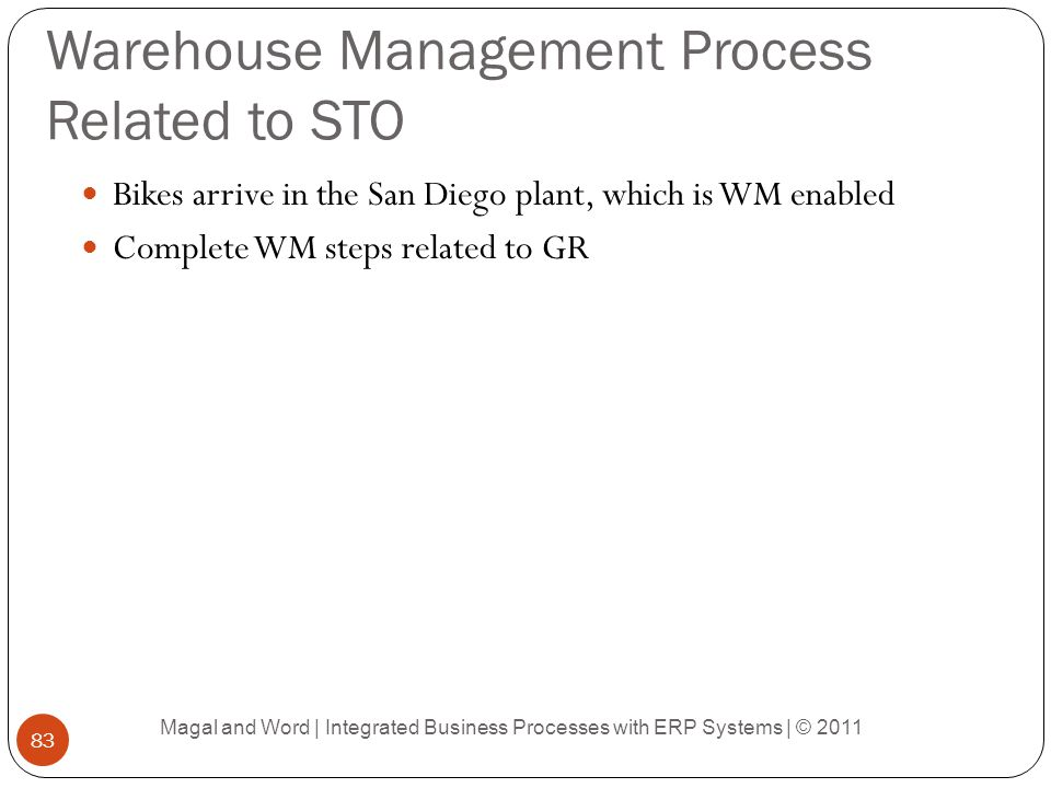 Warehouse Management Process Related to STO