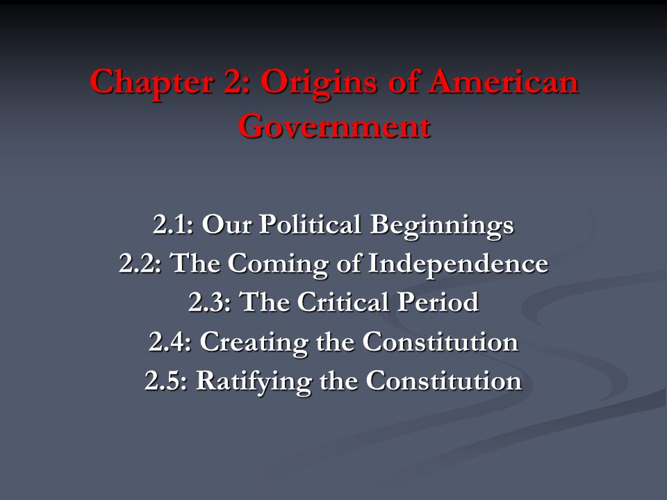 american political tradition chapter 5 The first american protests focused on particular economic and political matters   based on the republican and whig strands of the english political tradition 5.