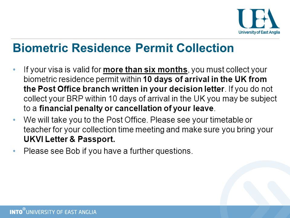 Biometric Residence Permit Collection