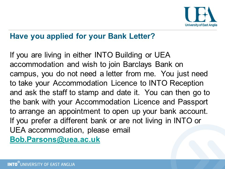 Have you applied for your Bank Letter