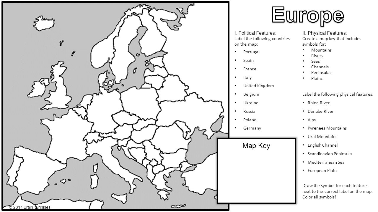 Europes Geography Brain Wrinkles Ppt Video Online Download - Germany map key