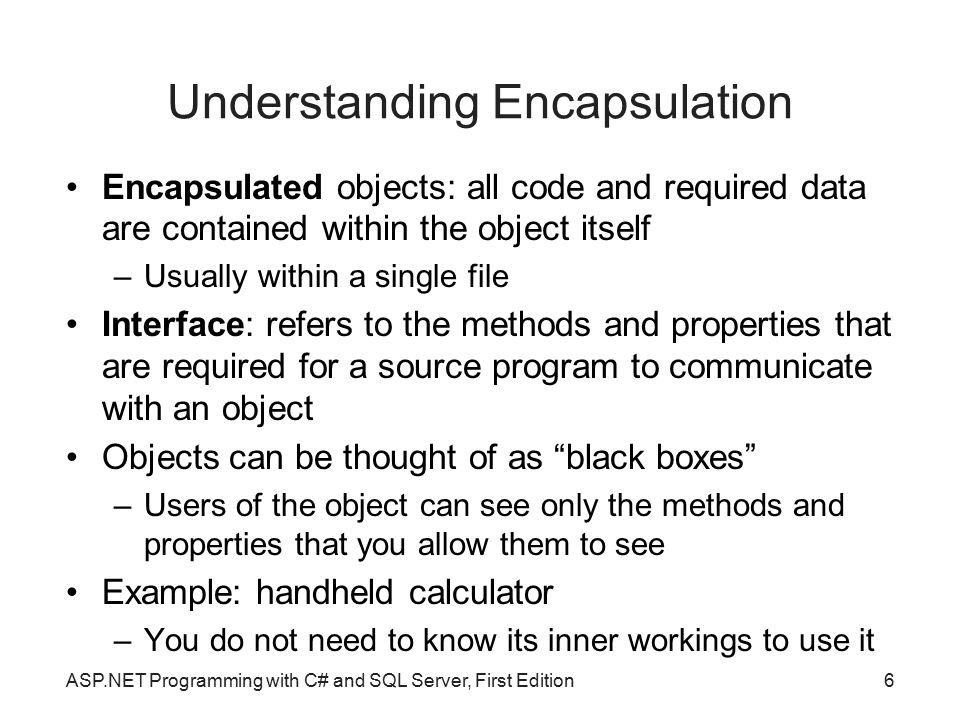 Understanding Encapsulation