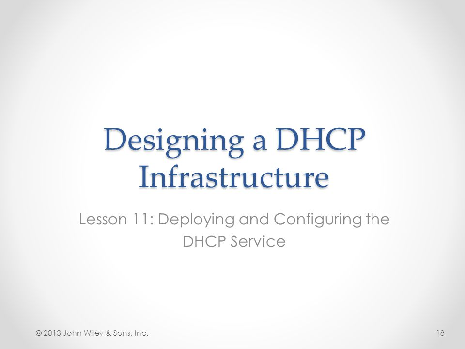 Designing a DHCP Infrastructure