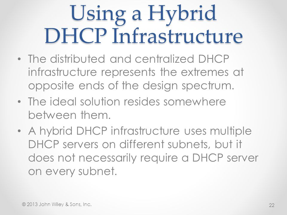 Using a Hybrid DHCP Infrastructure