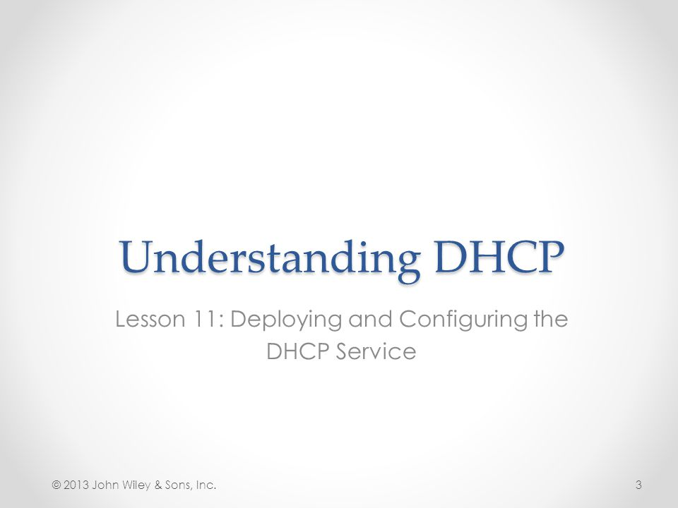 Lesson 11: Deploying and Configuring the