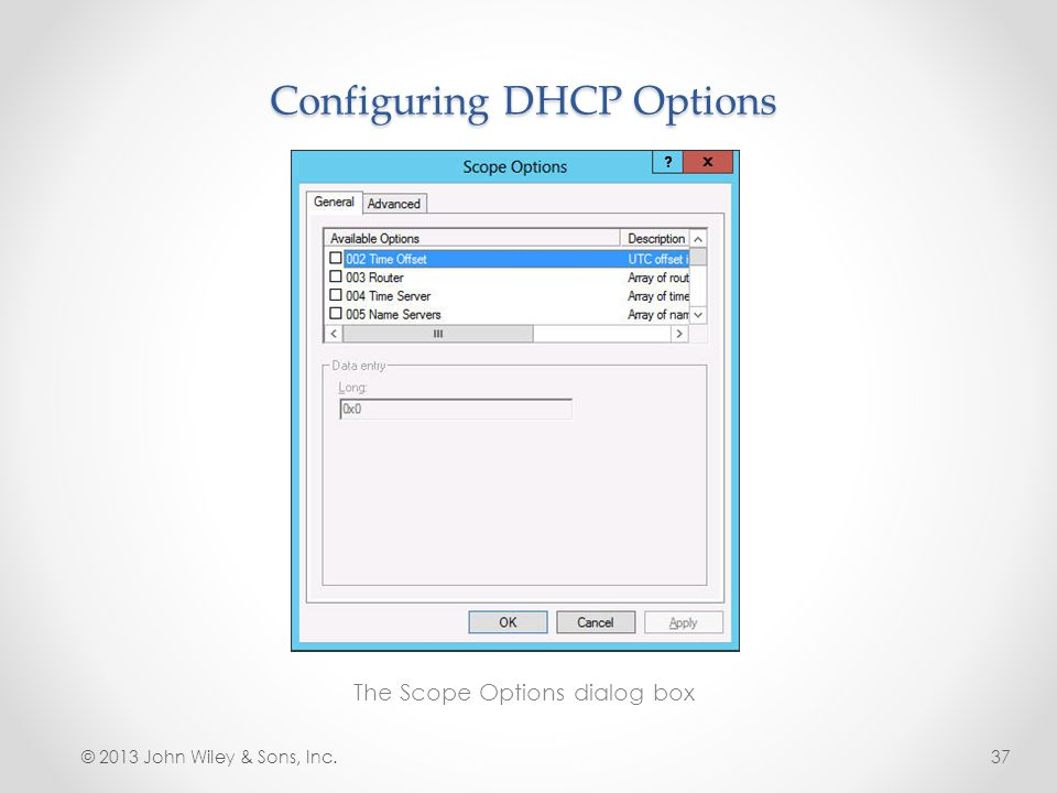 Configuring DHCP Options