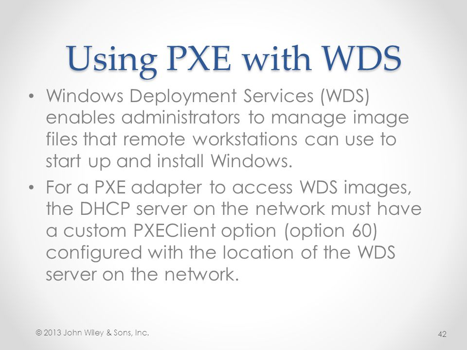 Using PXE with WDS