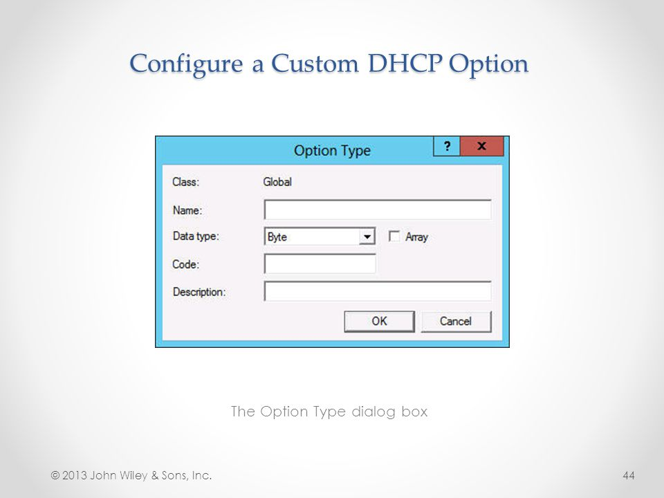 Configure a Custom DHCP Option