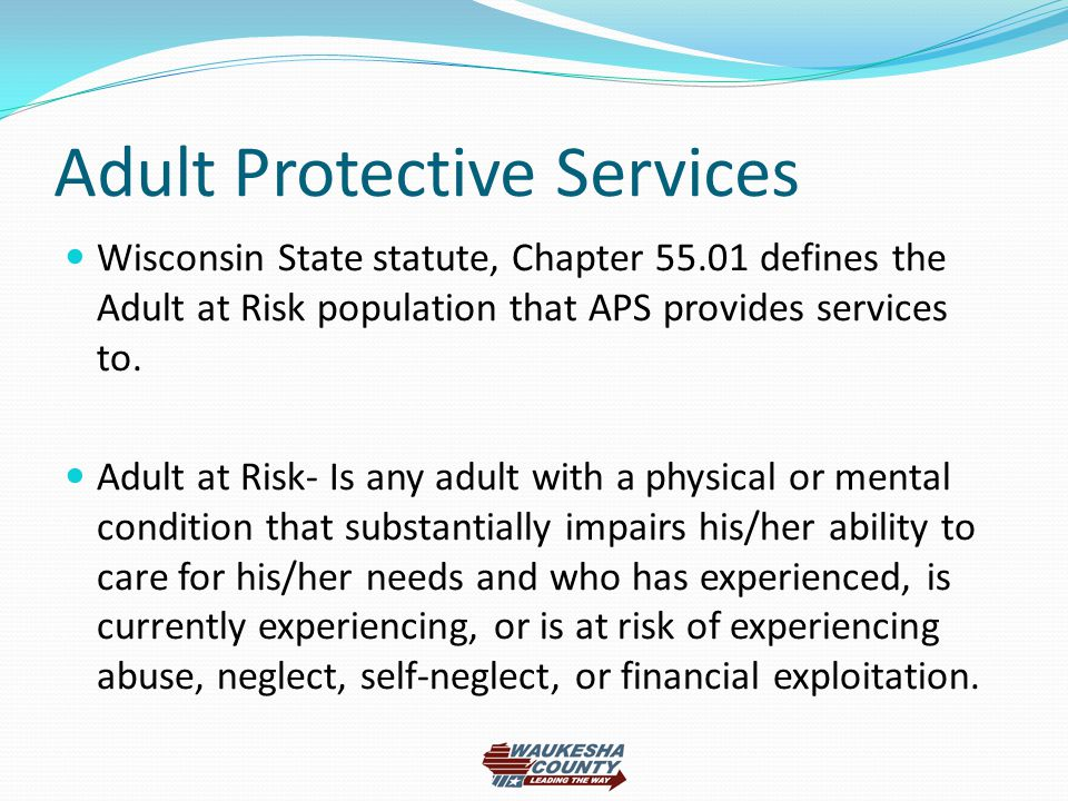 You Older adult protective services act maybe, were