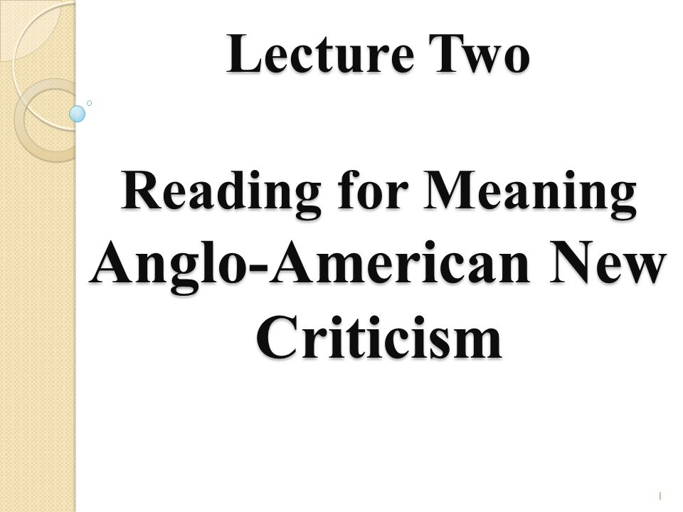 New criticism example essay univer