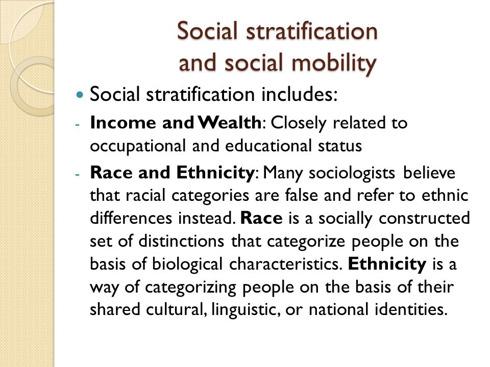 race and social stratification Home homework sociology calendar unit 1 - introduction to sociology unit 2 - culture and social interaction unit 3 - socialization and deviance unit 4 - social stratification, social class, race and ethnicity.