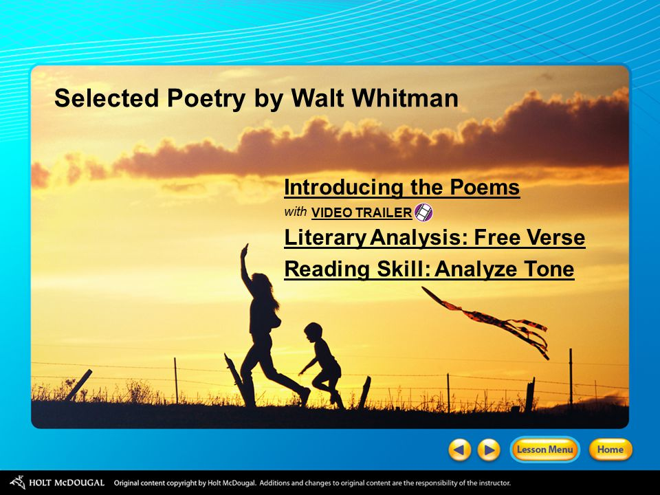 Selected Poetry By Walt Whitman Ppt Video Online Download