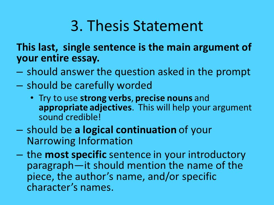The last sentence of an essay is typically a sentence that