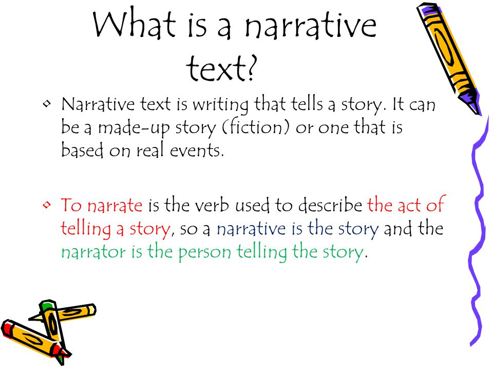 essay narrative text Why write narrative narrative writing is very important in your day-to-day life for the rest of your life,you will write texts, e-mails, cover letters.
