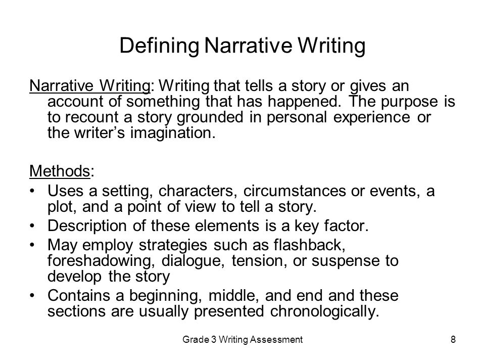 Worksheet Story Writing For Grade 3 grade 3 writing assessment ppt video online download defining narrative writing