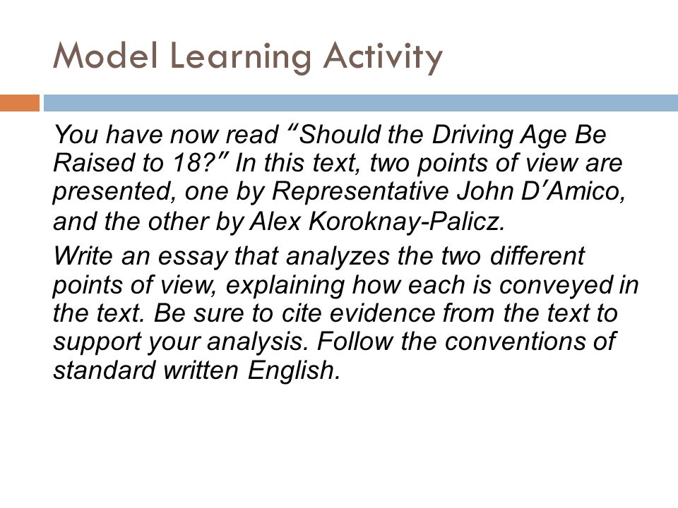 "essay on raising the driving age to 18 Argument essay final draft  raising the driving age won't save lives  ""should the driving age be raised to 18."