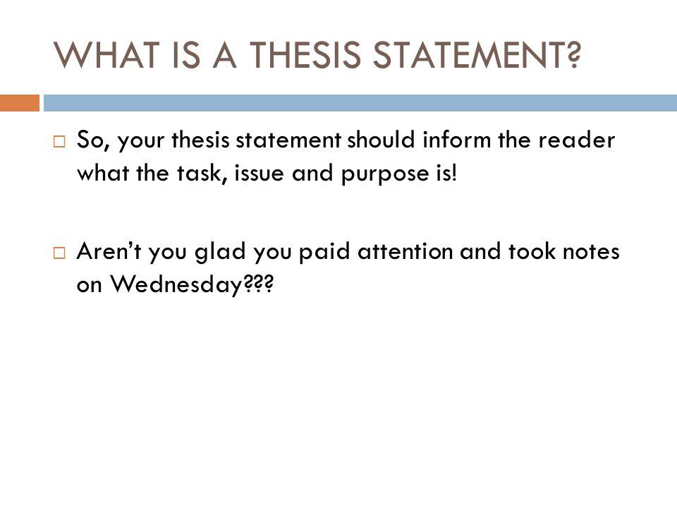 so what to thesis statements Grundlegender aufbau eines statements auch wenn ein statement in der regel so kurz ist, dass es in weniger als einer minute vorgelesen werden kann, ist der richtige.