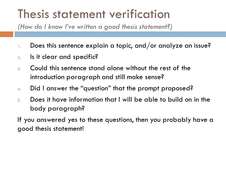 How to Write an Effective Thesis Statement in Three Easy Steps