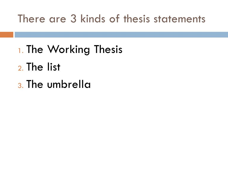Thesis on two kinds