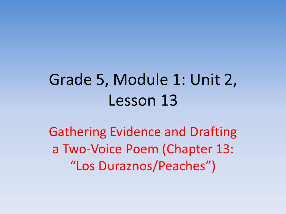 "english draft two voices Writing, critique, and revising: two-voice poems (chapter 14: ""las uvas/grapes"") • i can collaborate with peers to plan and draft a two-voice poem."